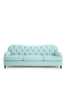 drake tufted sofa, pale aqua, medium