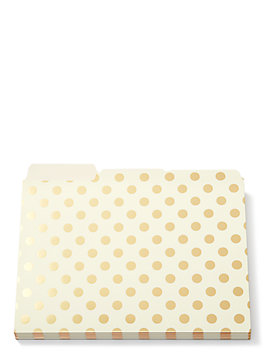 strike gold dot file folders, gold dots, medium
