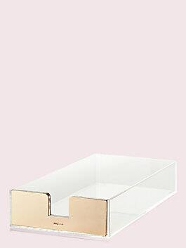 strike gold desk tray, gold, medium