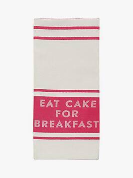 diner stripe kitchen towel, pink, medium