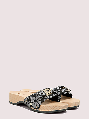 dr. scholl's x kate spade new york spade flower slide sandal by kate spade new york hover view
