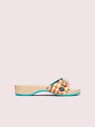 dr. scholl's x kate spade new york bella plaid slide sandal by kate spade new york hover view