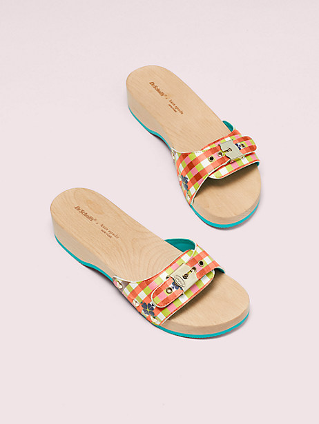 dr. scholl's x kate spade new york bella plaid slide sandal by kate spade new york