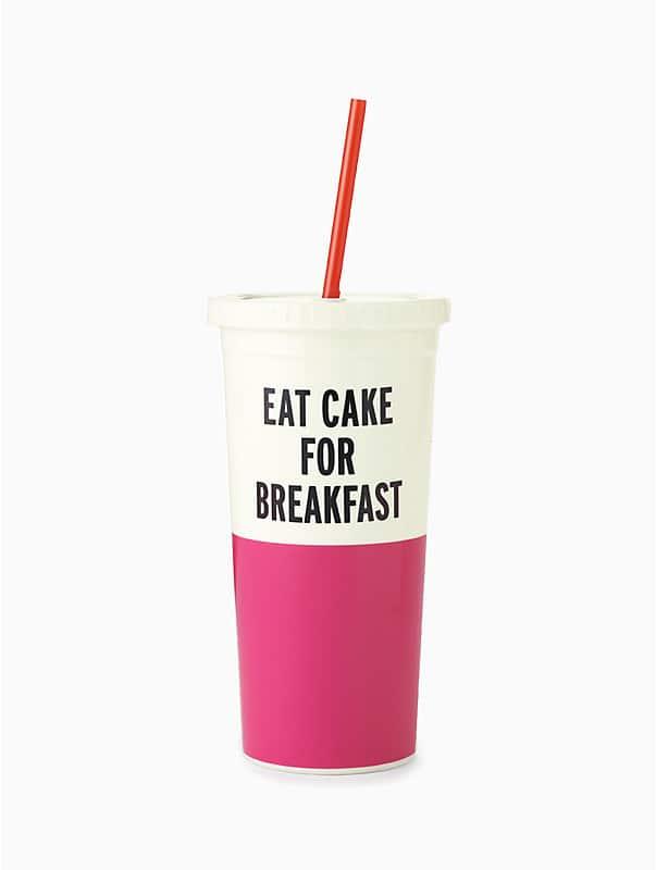 eat cake for breakfast tumbler, , rr_large