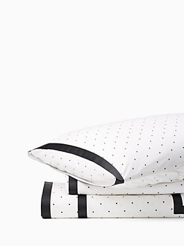 dot frame duvet set, white, medium