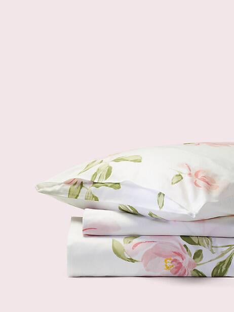 Breezy Magnolia Duvet Set, white, large by kate spade new york
