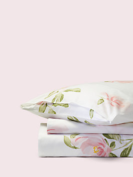 Breezy Magnolia Duvet Set, white, medium