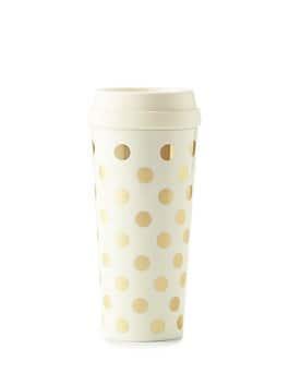 gold dot thermal mug, gold dot, medium