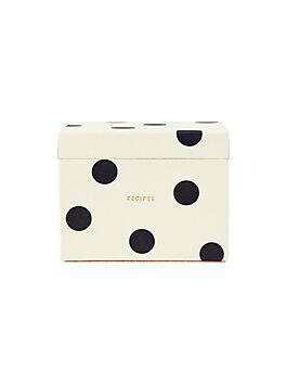 deco dot recipe box, black/cream, medium