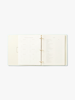 love is in the air bridal planner by kate spade new york hover view