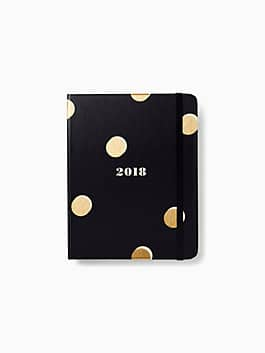 Scatter Dot 17-Month Medium Agenda, black, medium