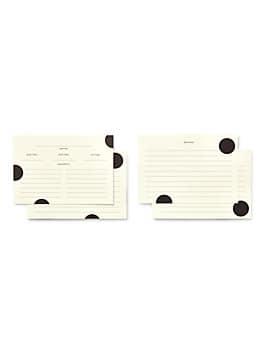 deco dot recipe card refills, black, medium
