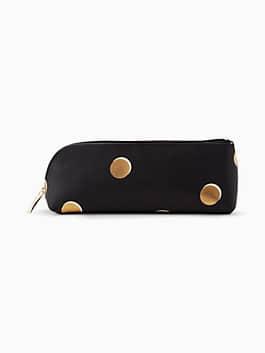 scatter dot pencil case, black, medium