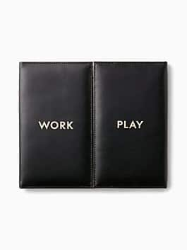 work play desktop folio, gold, medium