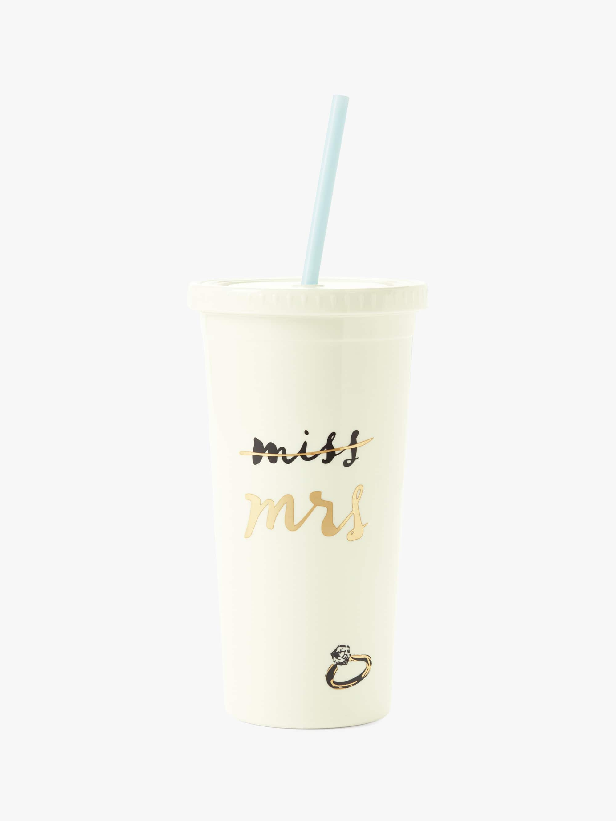 Kate spade miss to mrs. tumbler with straw