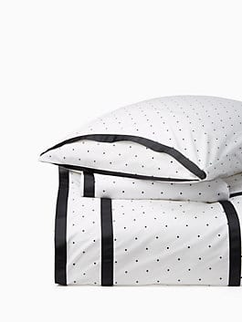 dot frame comforter set, white, medium