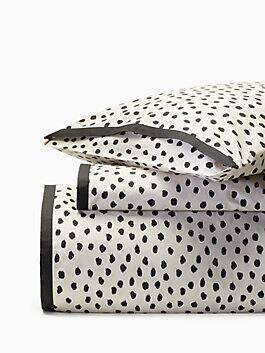 flamingo dot comforter set, natural, medium
