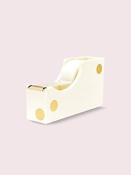 strike gold dot tape dispenser, gold, medium