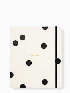 Deco Dot Recipe Book, black/cream, medium