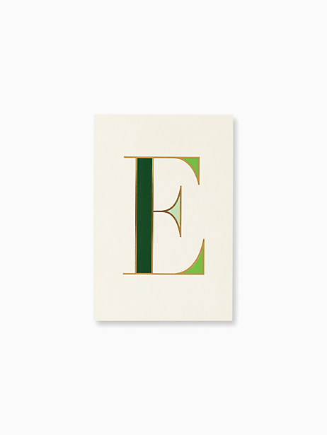 initial notepad, E, large by kate spade new york
