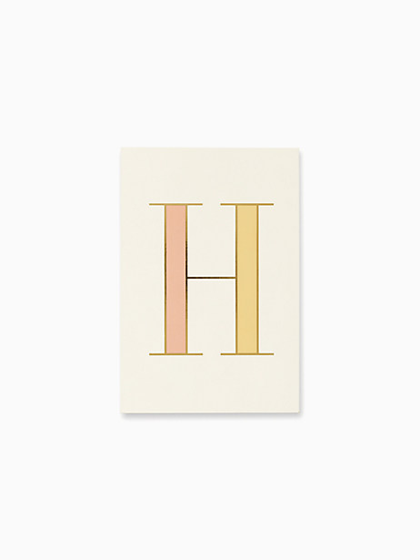 initial notepad, H, large by kate spade new york