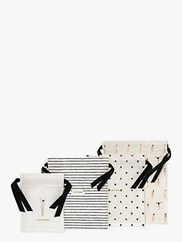Getting Dressed Travel Bag Set, black/cream, medium