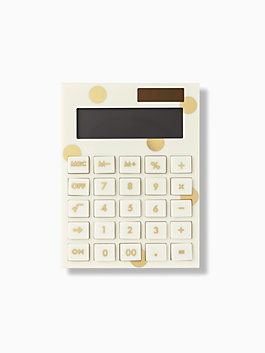 gold dot calculator, gold, medium