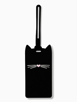 cat luggage tag by kate spade new york non-hover view