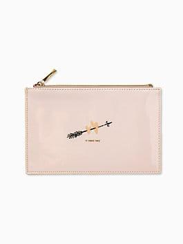 two hearts bridal pencil pouch, blush, medium