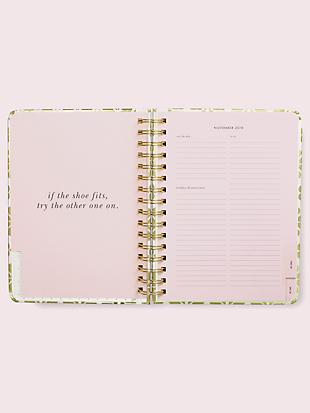 gold spade flower large 17-month planner by kate spade new york hover view