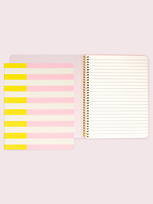 two-tone stripe concealed spiral notebook by kate spade new york non-hover view