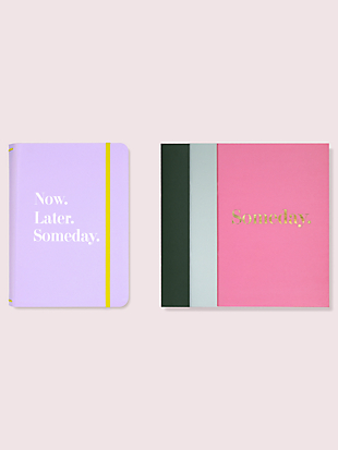 now, later, someday notebook folio set by kate spade new york non-hover view