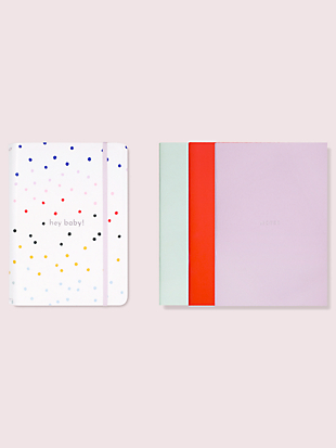 hey baby dancing dots notebook folio set by kate spade new york non-hover view