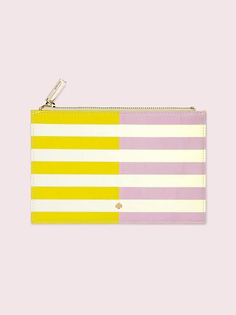 two-tone stripe pencil pouch by kate spade new york