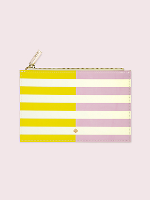 two-tone stripe pencil pouch by kate spade new york non-hover view