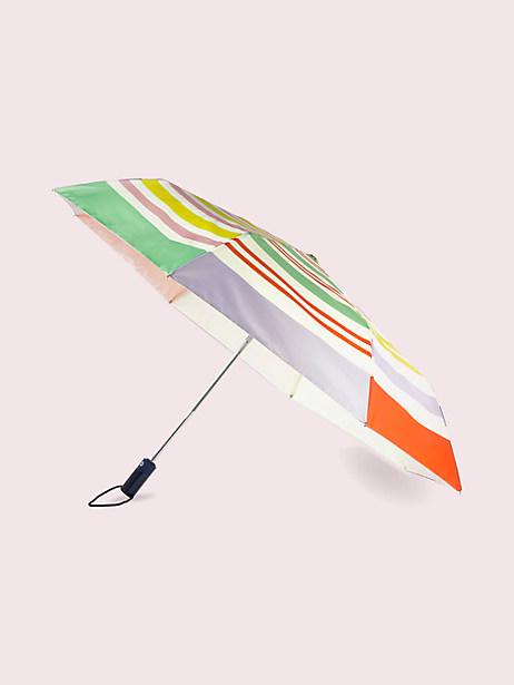 rainbow stripe travel umbrella by kate spade new york