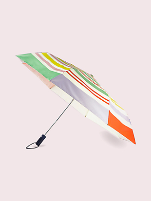 rainbow stripe travel umbrella by kate spade new york non-hover view