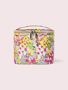 floral dot lunch tote, multi, medium