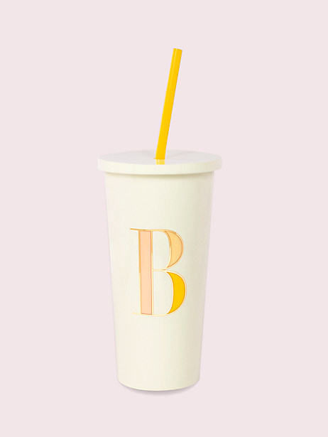 it's personal initial tumbler, B, large by kate spade new york