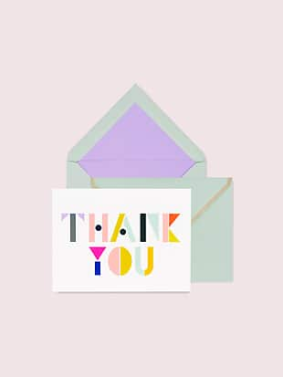 geo letters thank you notecard set by kate spade new york hover view