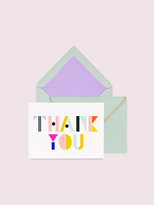 geo letters thank you notecard set by kate spade new york non-hover view
