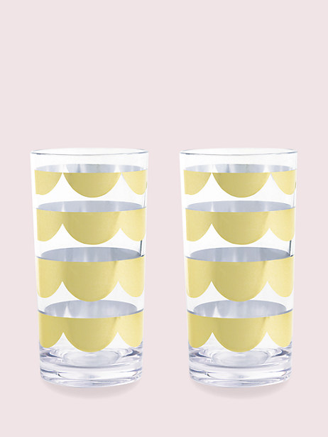 scallop highball set by kate spade new york