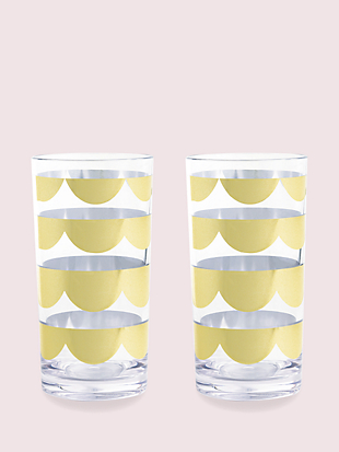 scallop highball set by kate spade new york non-hover view