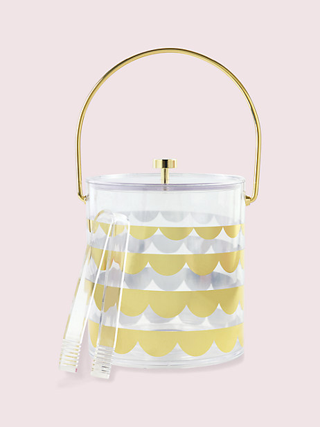 scallop ice bucket by kate spade new york
