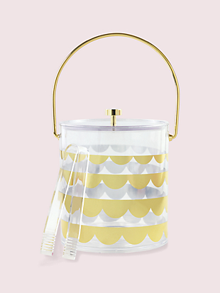 scallop ice bucket by kate spade new york hover view