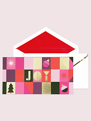 joy holiday card set by kate spade new york non-hover view