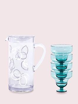 casual drinkware margarita kit, light blue, medium