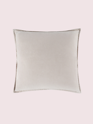 solid velvet euro sham by kate spade new york hover view