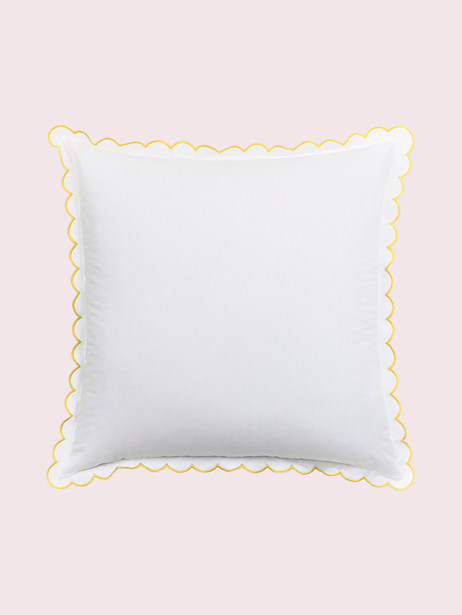 scallop edge euro sham, yellow, large by kate spade new york