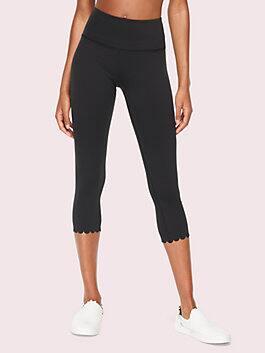 scallop crop legging, black, medium